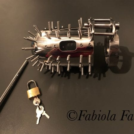 spiked chastity device